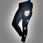 Лосины с пайеткой панда темно-синие