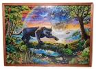 Картина из пазлов Пантера